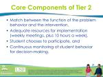 core components of tier 229