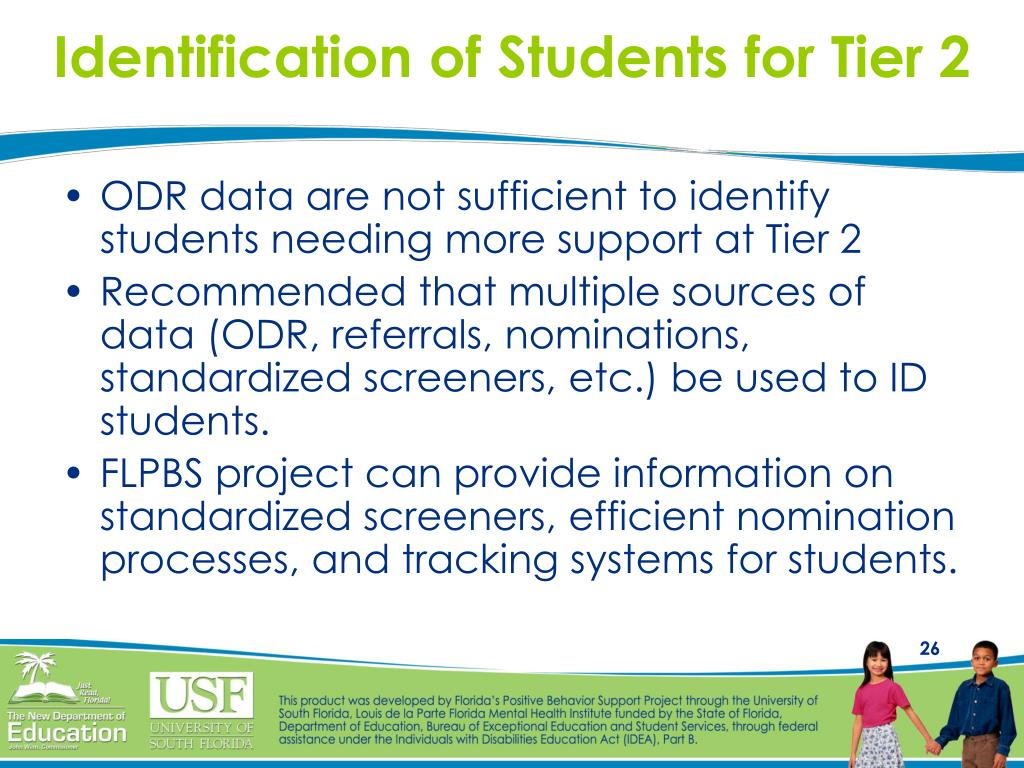 Identification of Students for Tier 2
