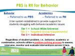 pbs is rti for behavior