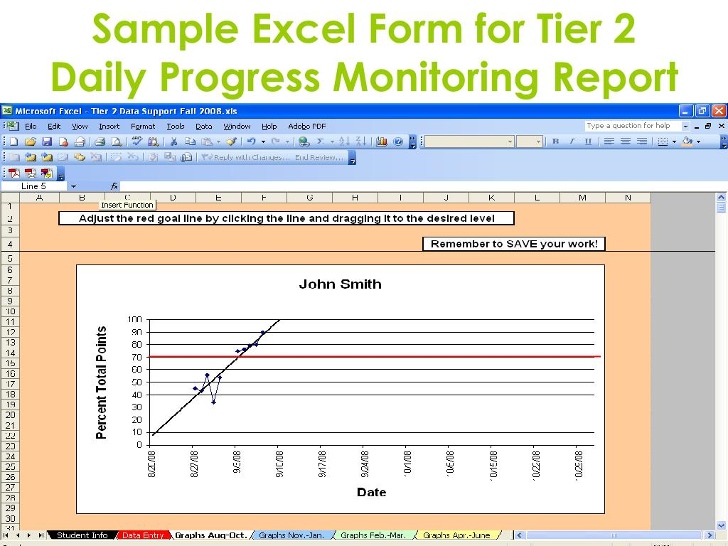 Sample Excel Form for Tier 2