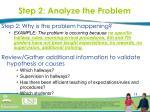 step 2 analyze the problem