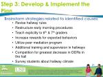 step 3 develop implement the plan21