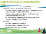 step 3 develop implement the plan23