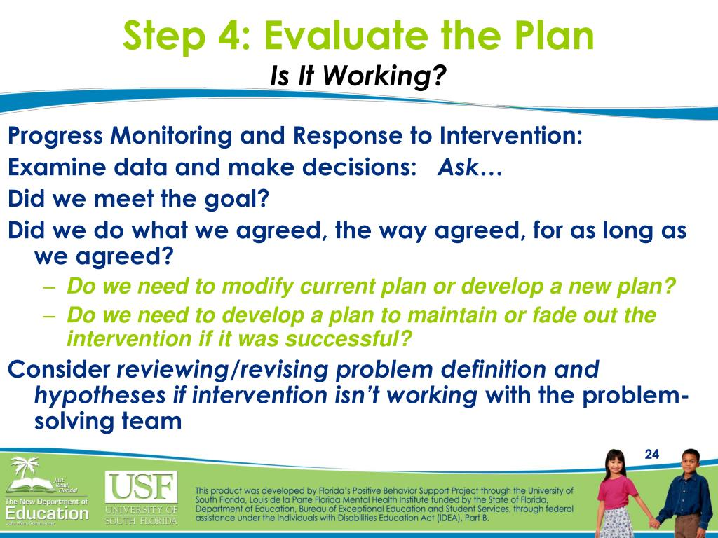 Step 4: Evaluate the Plan
