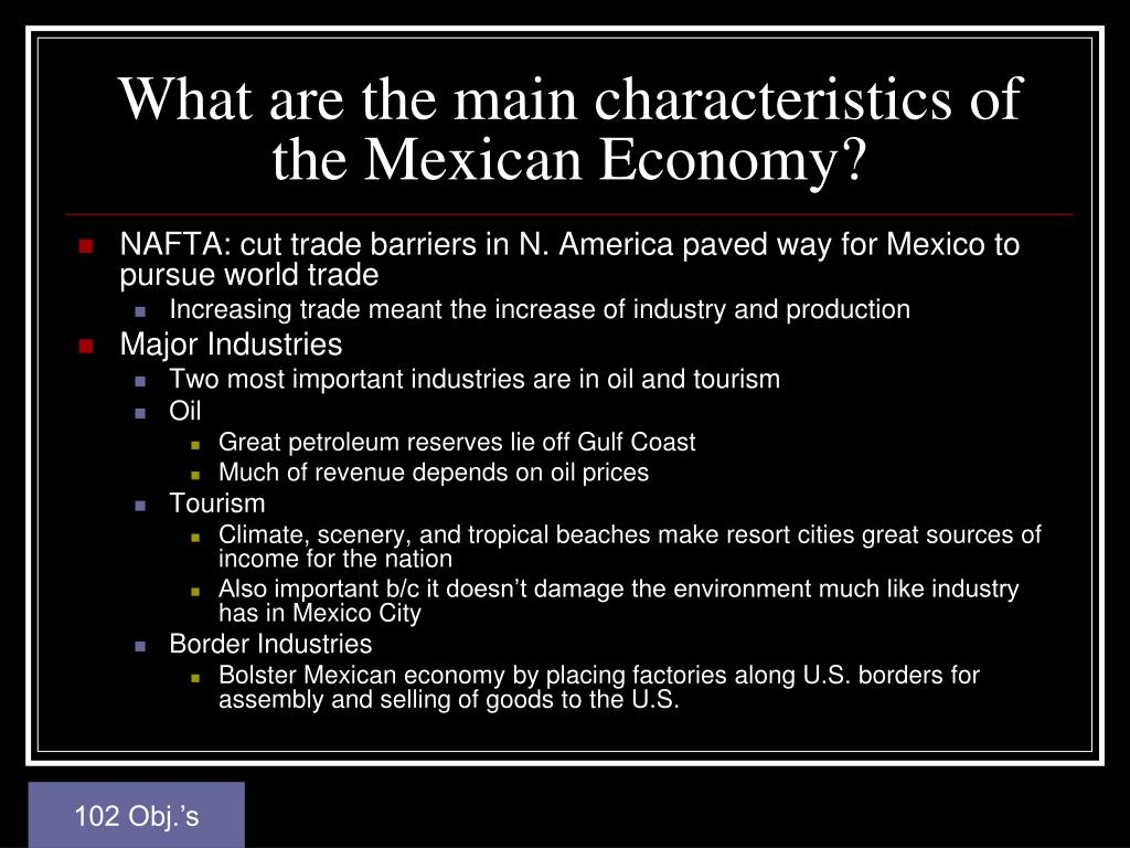 What are the main characteristics of the Mexican Economy?