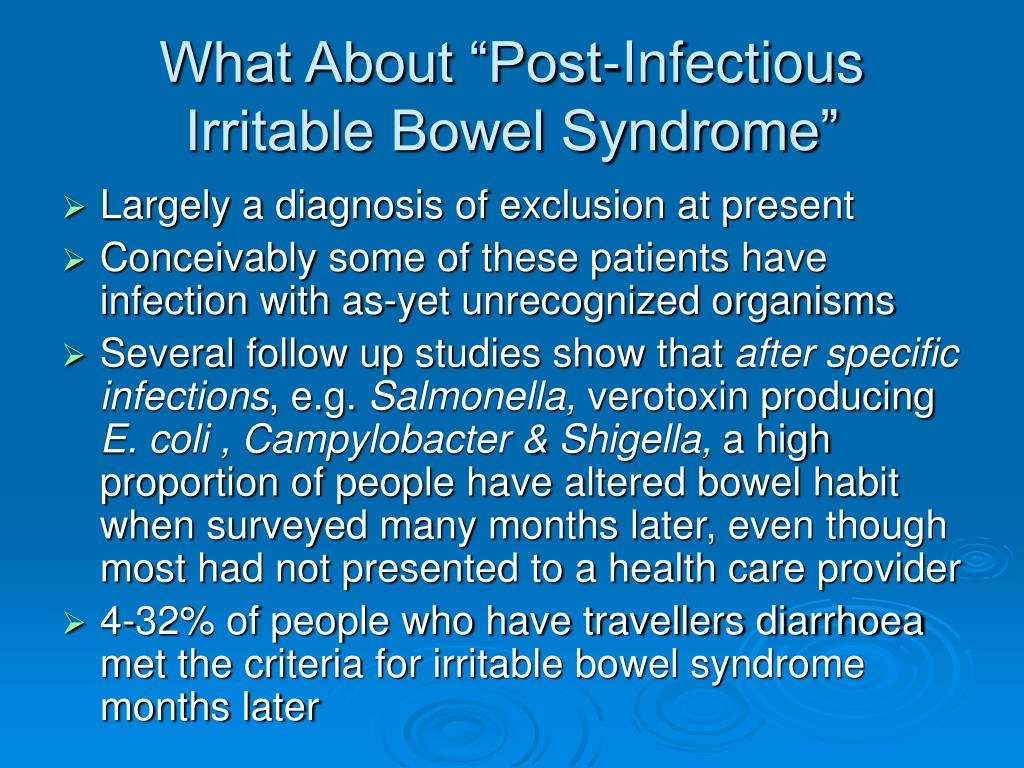 "What About ""Post-Infectious Irritable Bowel Syndrome"""