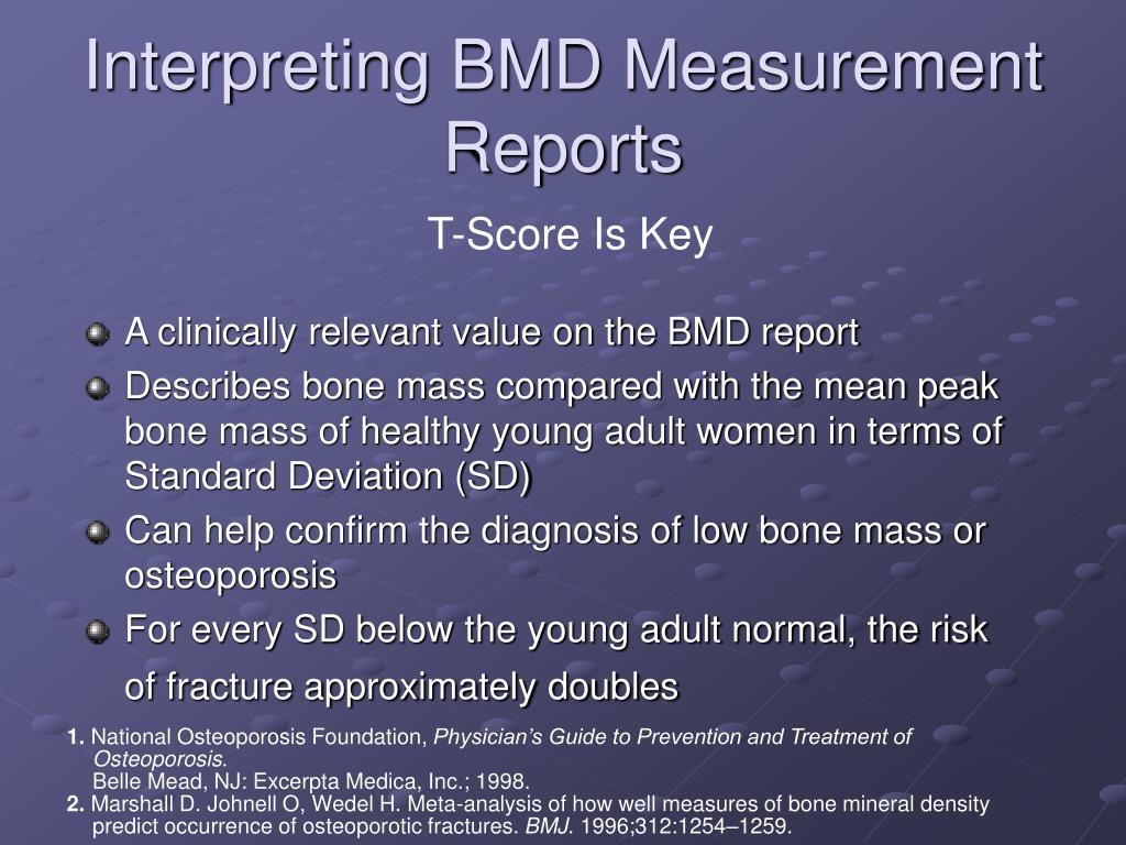 Interpreting BMD Measurement Reports