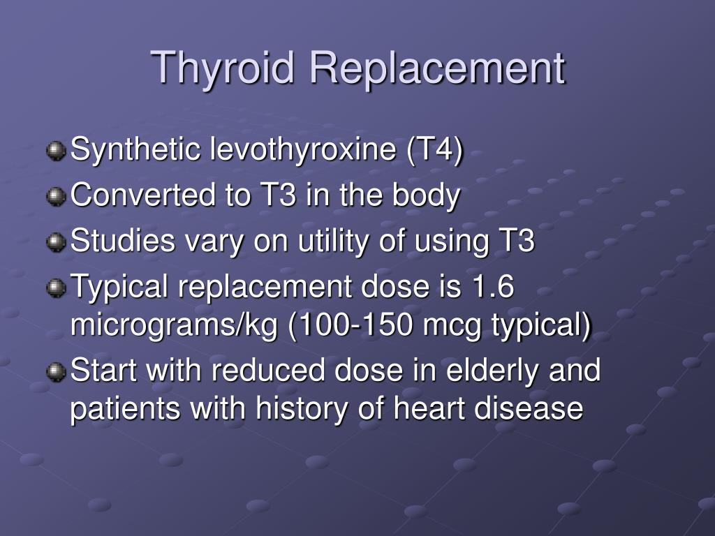 Thyroid Replacement