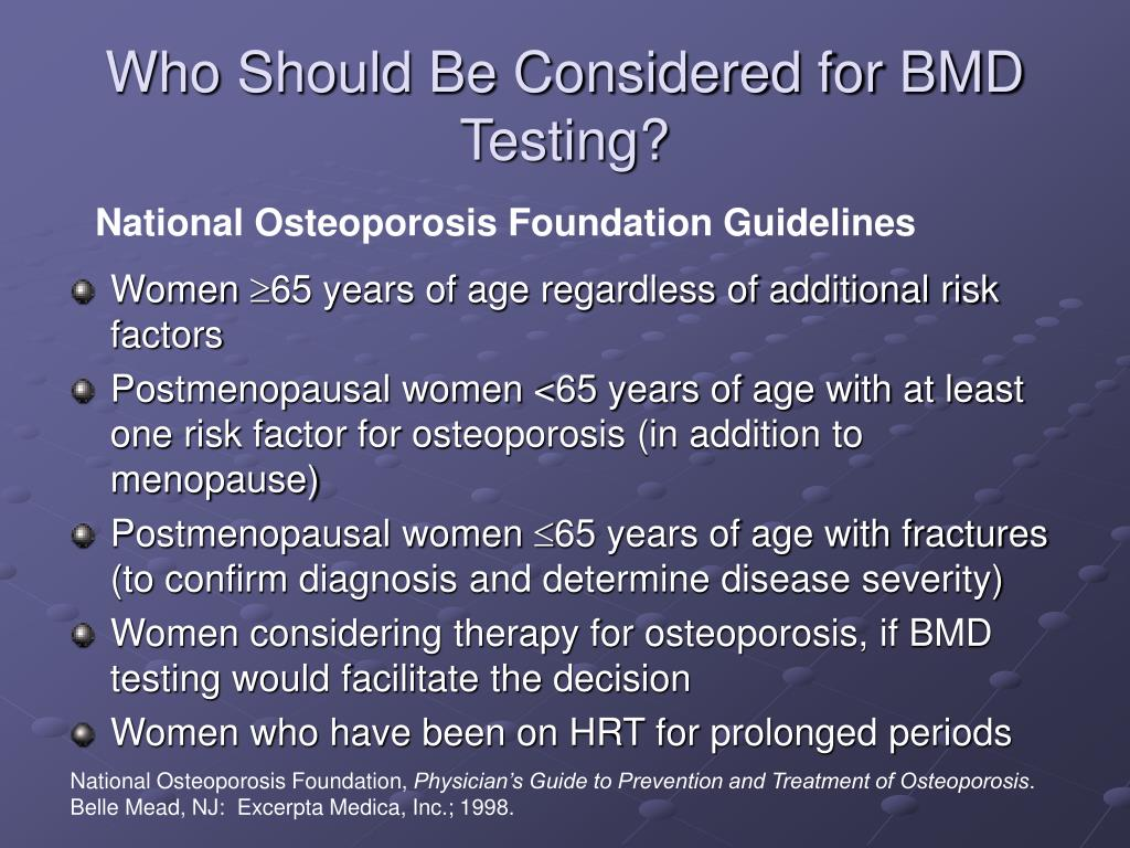 Who Should Be Considered for BMD Testing?