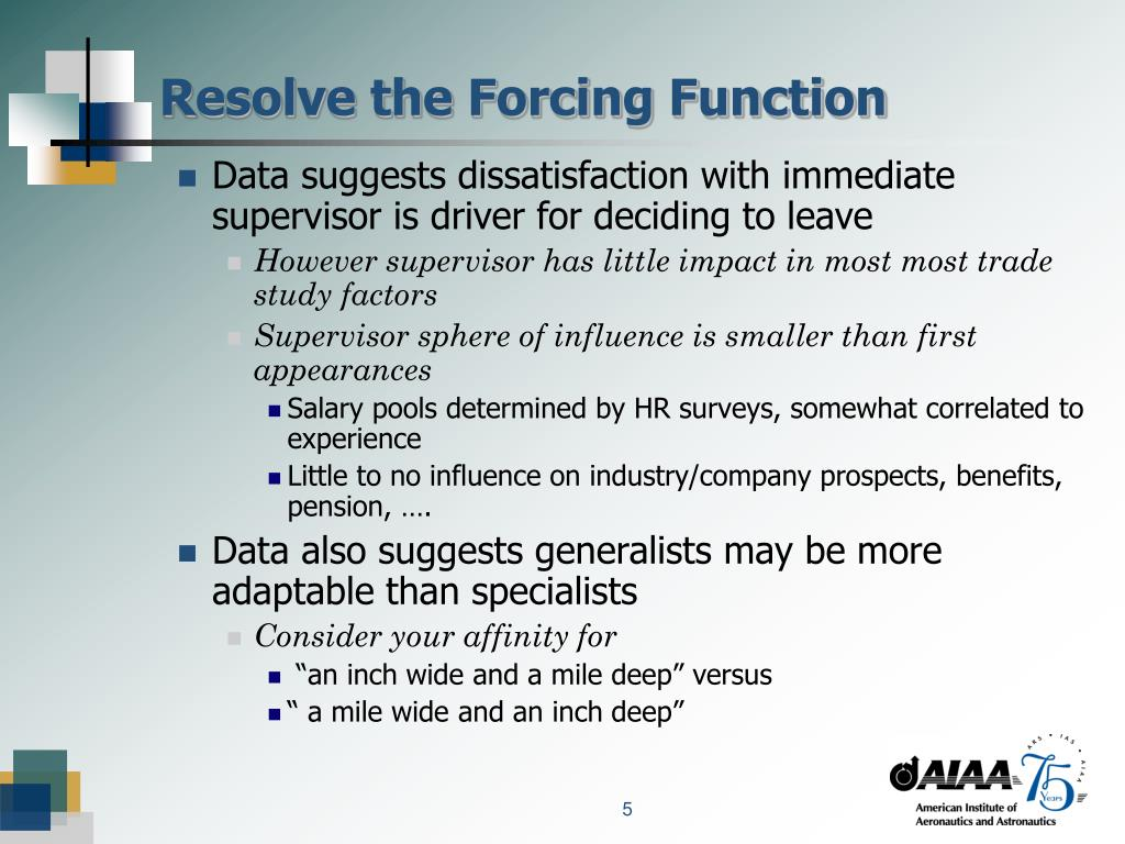 Resolve the Forcing Function