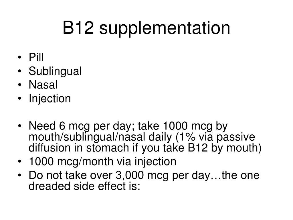 B12 supplementation