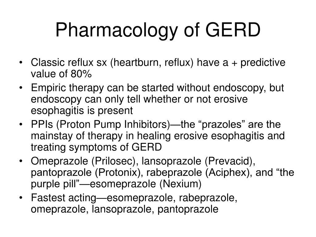 Pharmacology of GERD