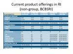 current product offerings in ri n on group bcbsri