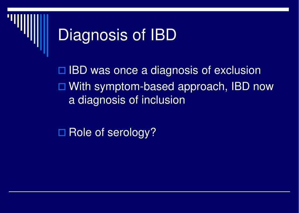 Diagnosis of IBD
