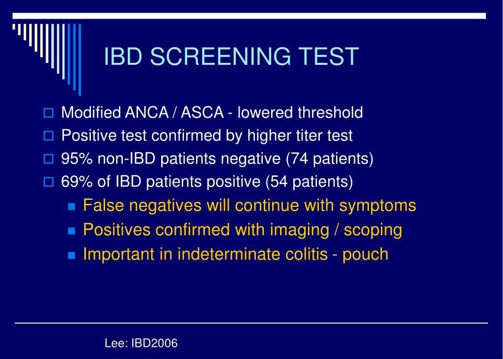 IBD SCREENING TEST