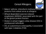 cereal allergens