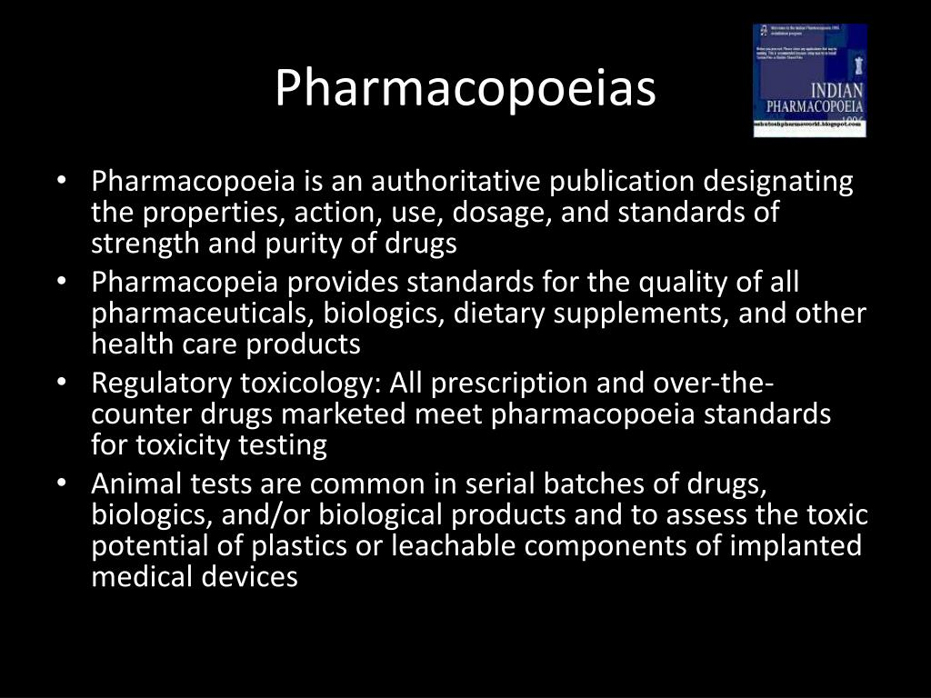 Pharmacopoeias