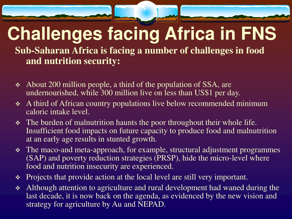 Challenges facing Africa in FNS