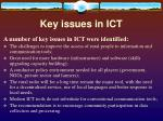 key issues in ict