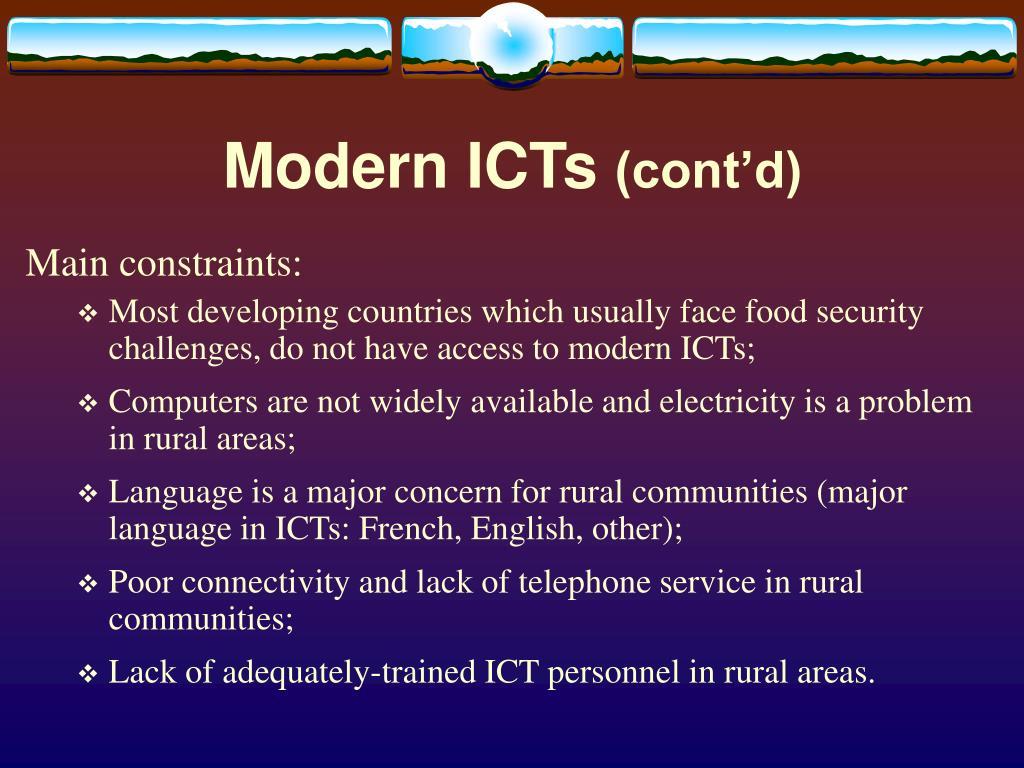 Modern ICTs