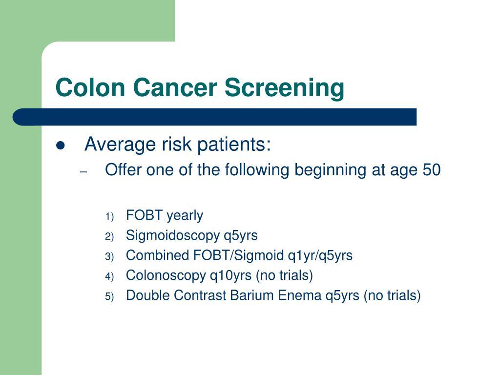 Colon Cancer Screening