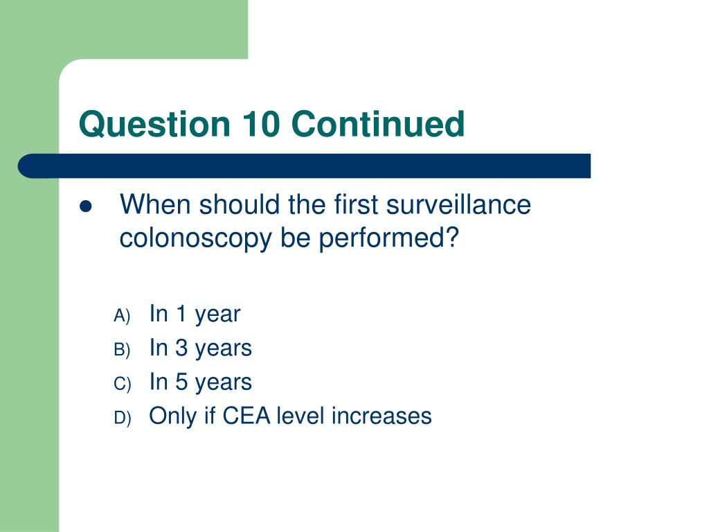 Question 10 Continued