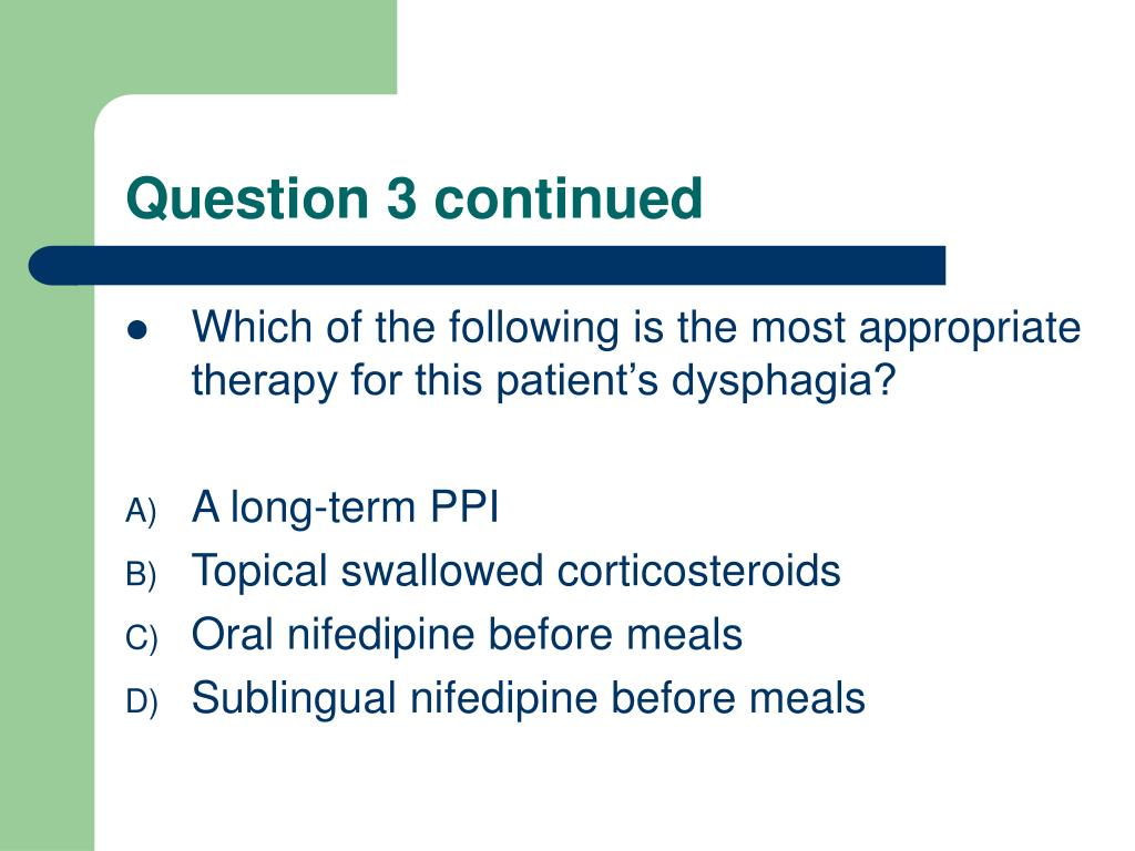 Question 3 continued