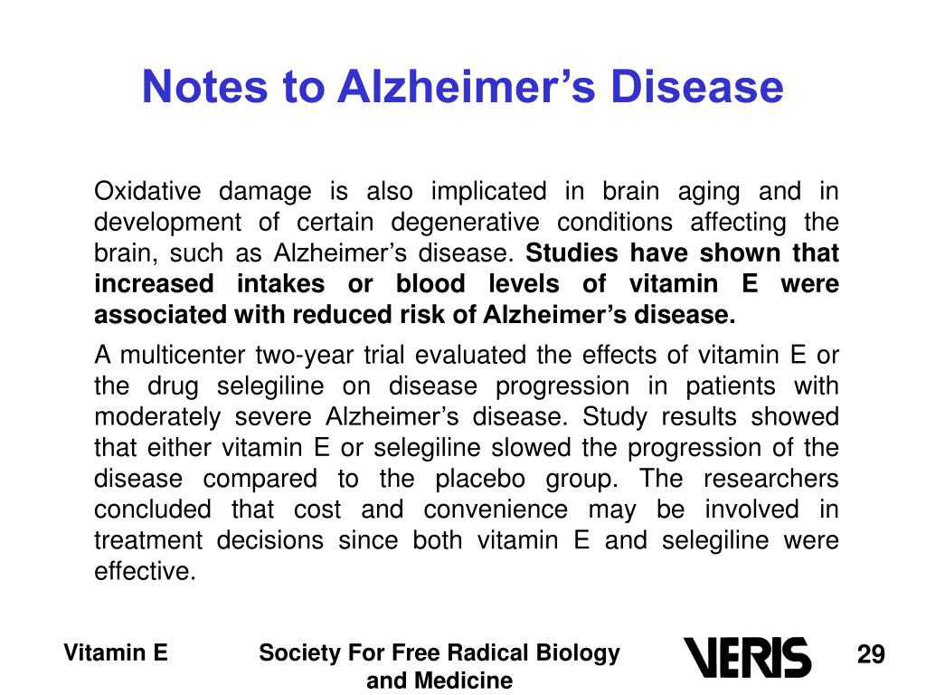 Notes to Alzheimer's Disease
