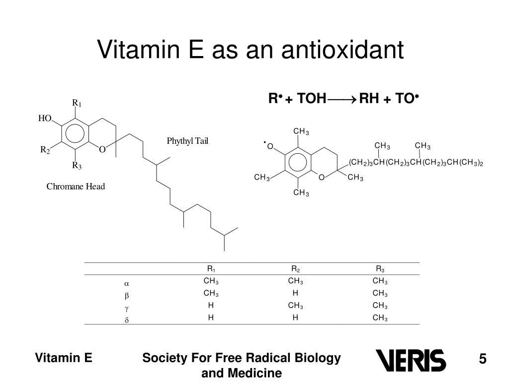 Vitamin E as an antioxidant
