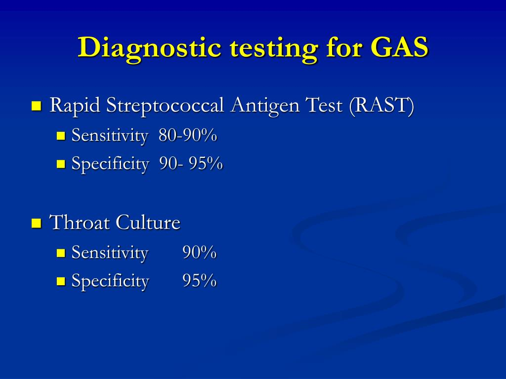 Diagnostic testing for GAS