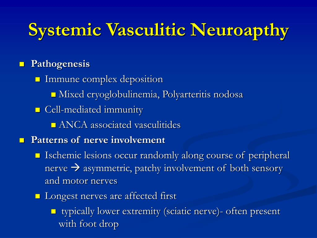 Systemic Vasculitic Neuroapthy