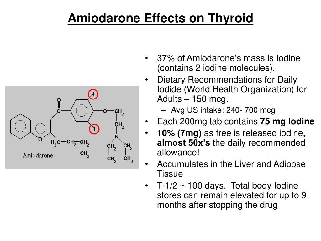 Amiodarone Effects on Thyroid