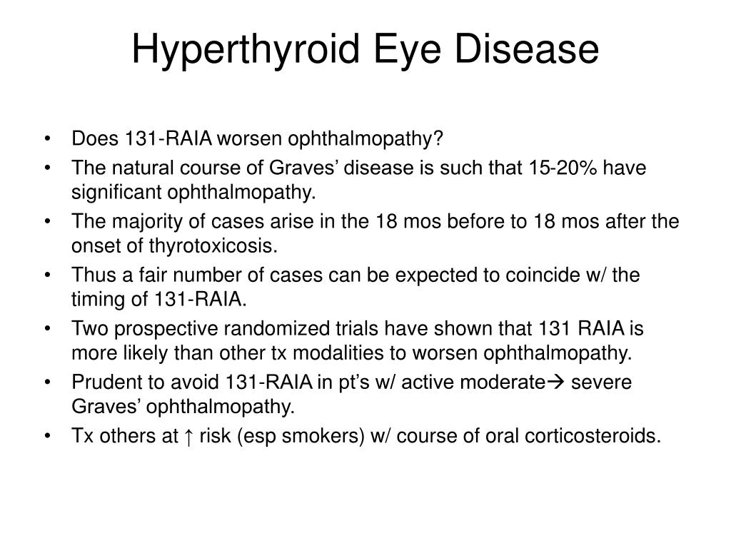 Hyperthyroid Eye Disease