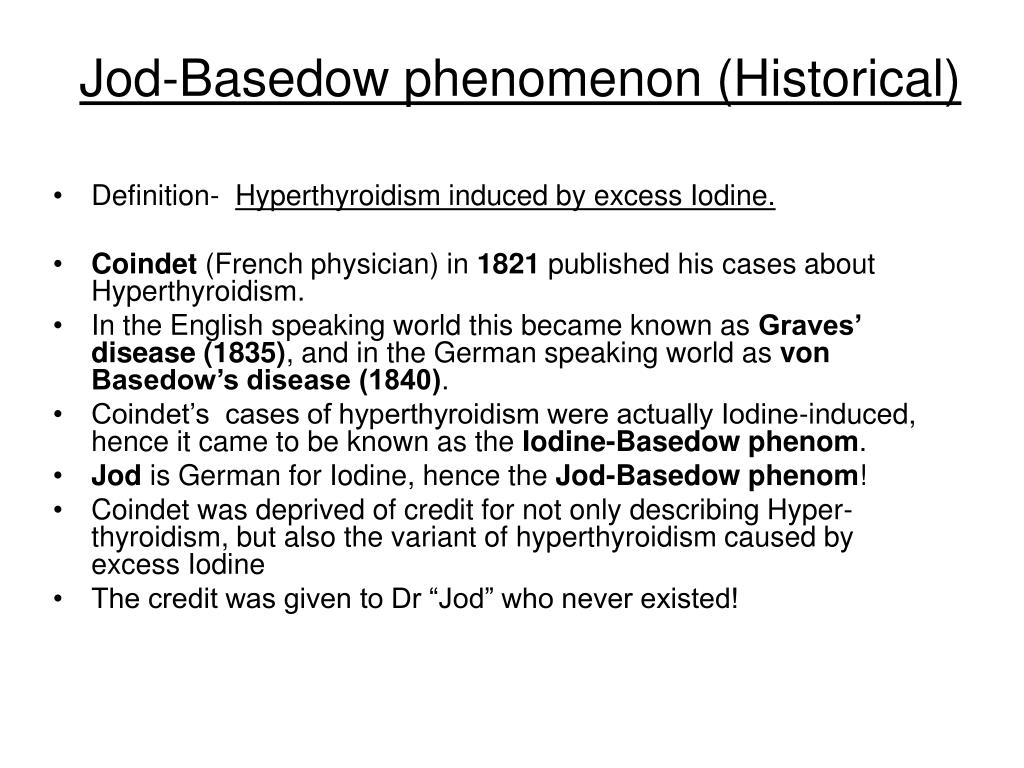 Jod-Basedow phenomenon (Historical)