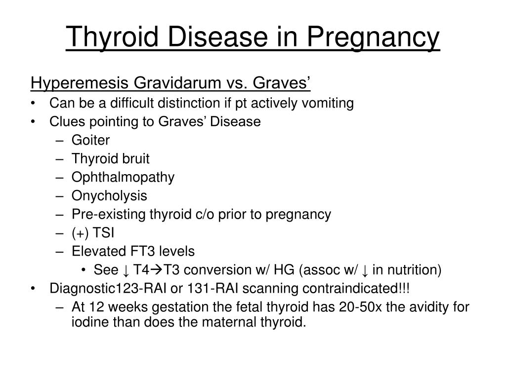 Thyroid Disease in Pregnancy