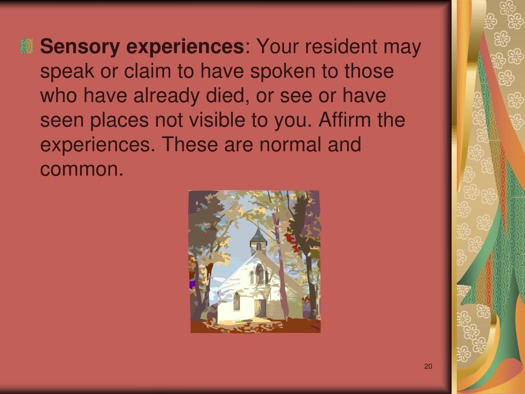 Sensory experiences