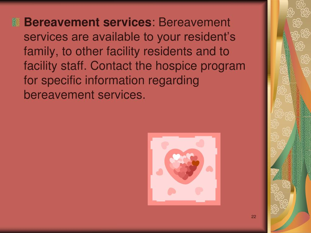 Bereavement services