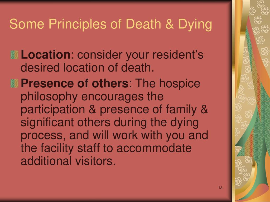 Some Principles of Death & Dying