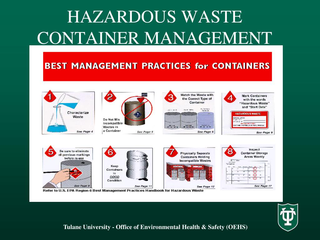 hazardous waste management Hazardous waste management hazardous wastes are those wastes that can pose a threat to human health and/or the environment when they are improperly handled and stored these wastes are ofte.