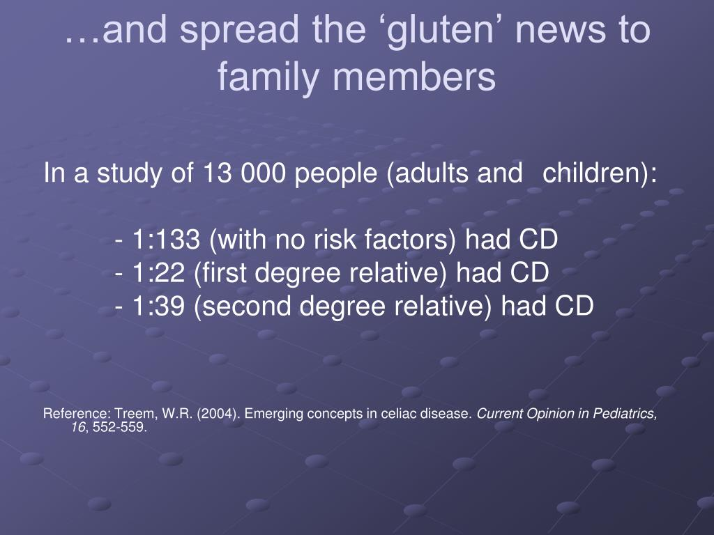 …and spread the 'gluten' news to family members