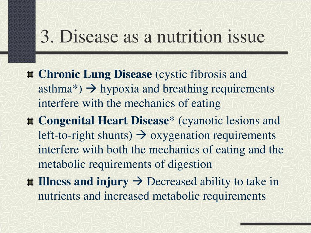 3. Disease as a nutrition issue