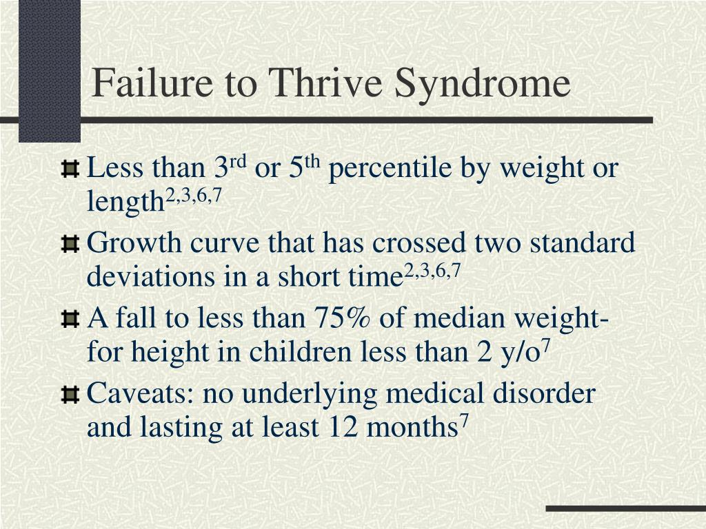 Failure to Thrive Syndrome
