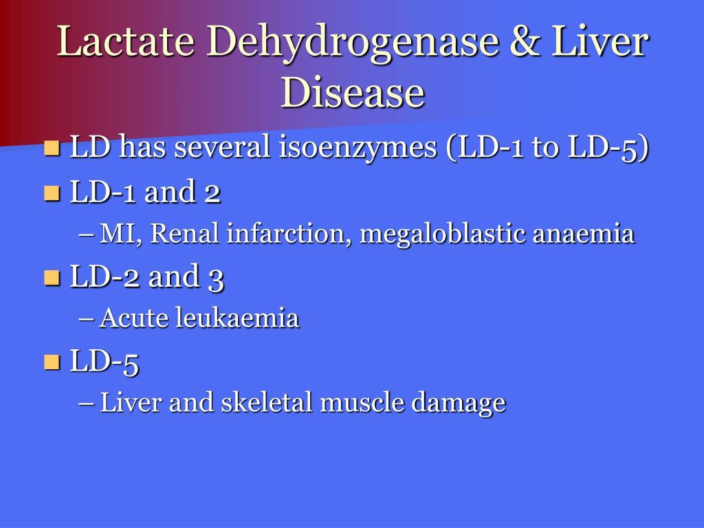 Lactate Dehydrogenase & Liver Disease