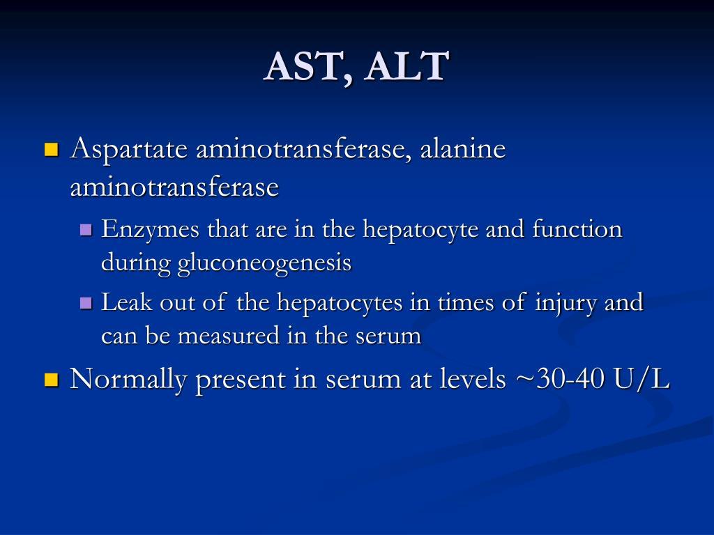 AST, ALT