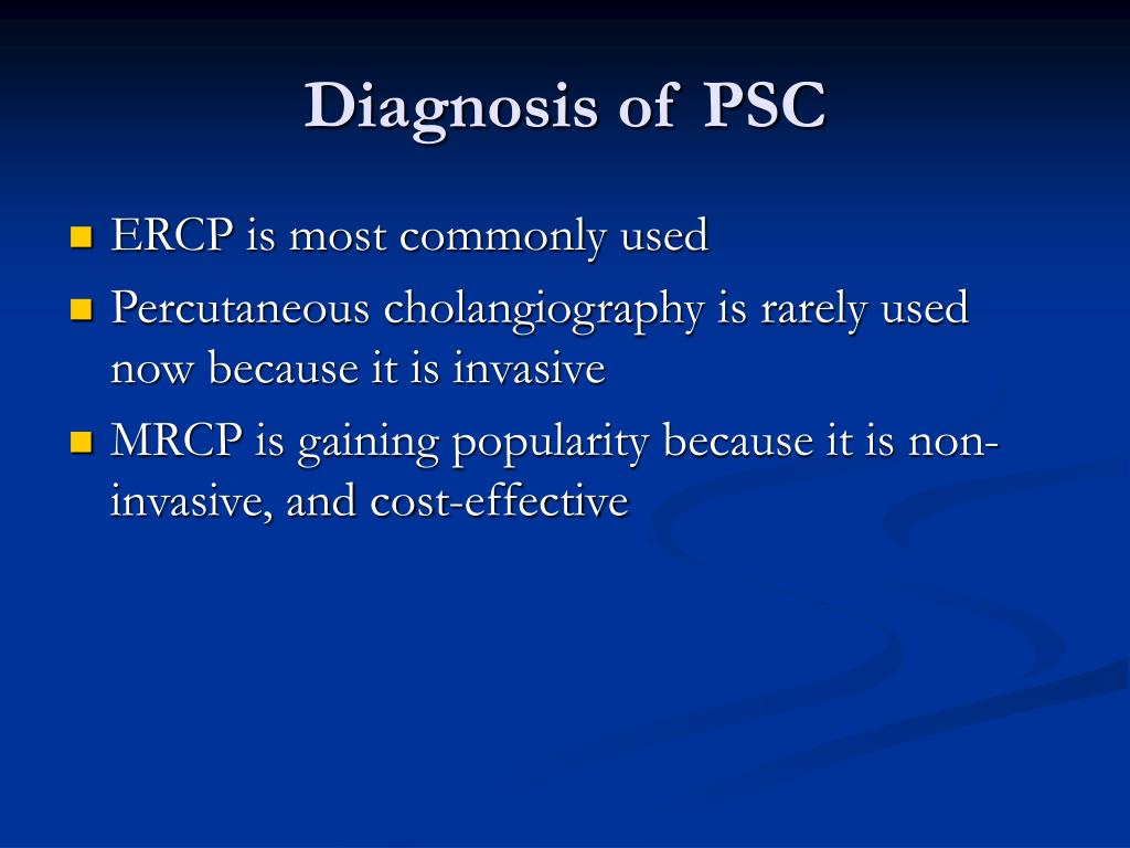 Diagnosis of PSC