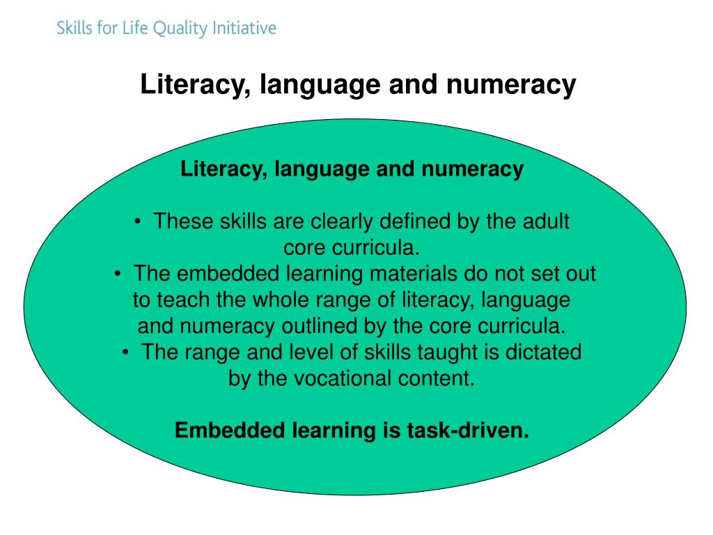 Literacy, language and numeracy