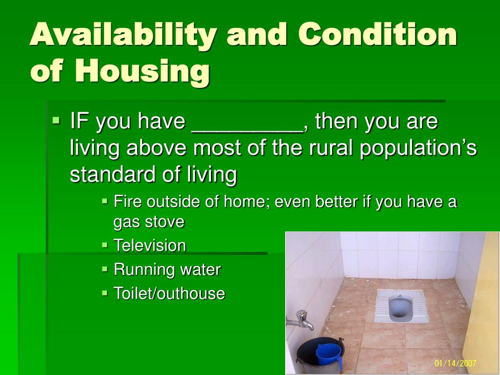 Availability and Condition of Housing