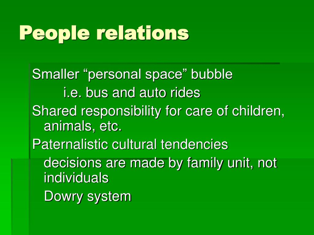 People relations
