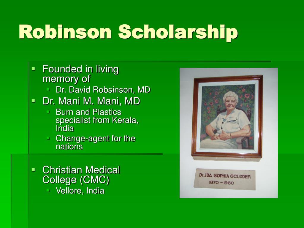Robinson Scholarship