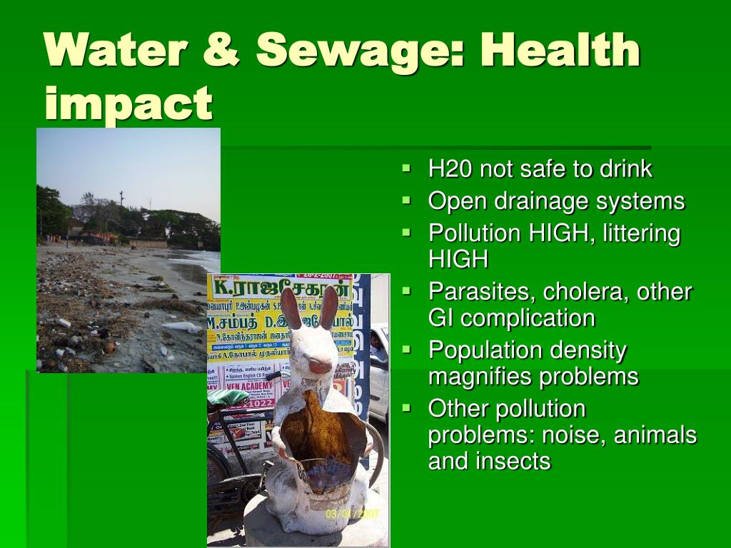 Water & Sewage: Health impact